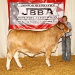 Senior Champion and Pevine Hicks Memorial Champion Showman – Jarrett Mackie, Lott, Texas