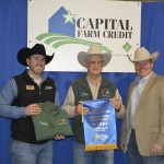 H.T. Chapman won first place Beefmaster/E6 Certified Cow/Calf Pairs
